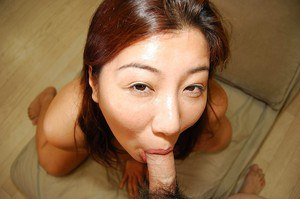 Lusty asian chick gives a nooky with ball licking and gets fucked tough