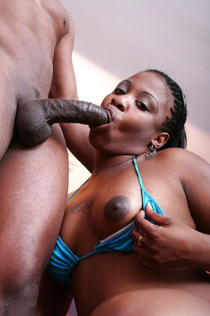 Lecherous ebony girls sharing a meaty black shlong and a creamy cumshot