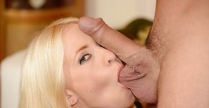 Slutty MILF has some ball licking and pussy fucking fun with a hung lad