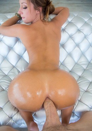 Slutty doxy with amazing ass gets anally fucked for a facial cumshot
