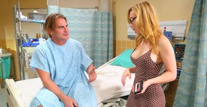 Sultry vixen with stunning curves gets fucked tough on the medical bed