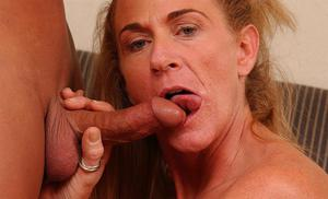 Big busted mom gives head and gets shagged for cum on her face