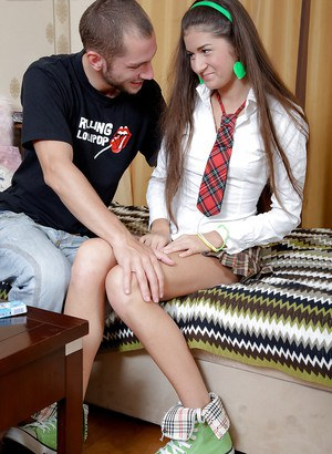 Slippy schoolgirl is much more interested in hard anal fucking than lessons