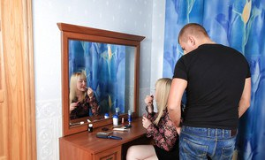 Lecherous mom gets her bushy cooter drilled and glazed with jizz