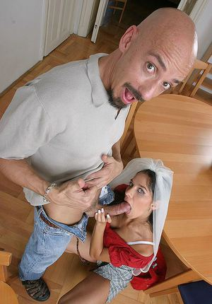 Luscious european brunette gets anally shagged for cum on her tongue and tits