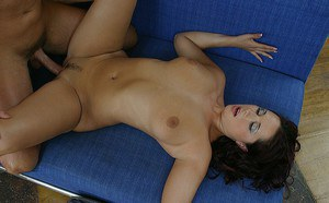 Sassy MILF gives head and gets shagged for jizz on her tongue and bosoms