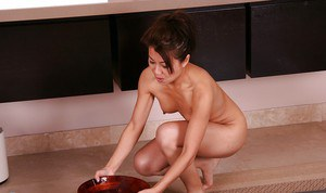 Busty asian MILF gives an oily massage turning into hardcore twatting