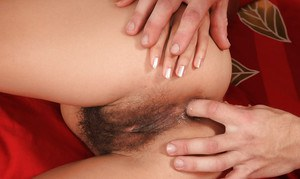 Slutty amateur enjoys hard anal drilling and gets her bush glazed with jizz