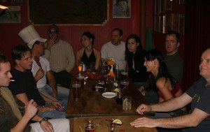 Sultry floosies with hot bodies enjoy a drunk groupsex at the pub party