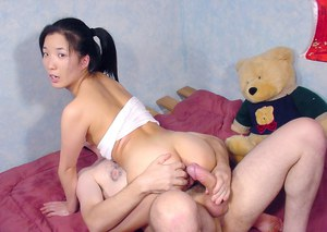 Slippy thai floosie gets her tight pussy slammed hardcore