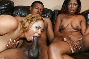 Lecherous ebony MILFs playing with a popsickle and a huge black boner