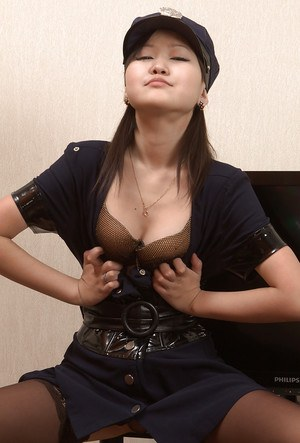 Amateur, Asian hooker Alexa plays role of dirty police woman