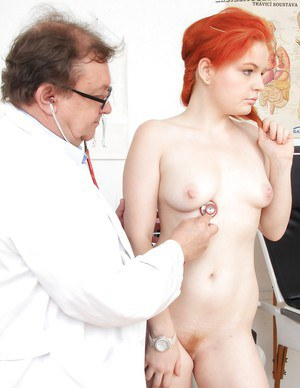 Cool fetish diva Barbara Babeurre spreads her cute, red-head twat