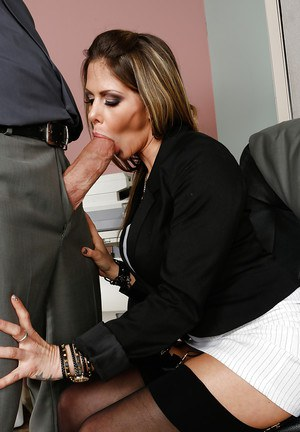 Sexy office milf Rachel Roxxx always fucks with the best dicks