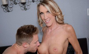 Bright milf Brynn Hunter gets her sweet shaved pussy battered
