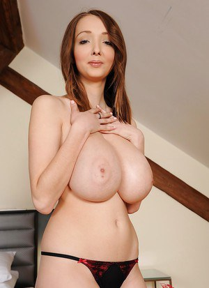 Gracious babe Lucy Wilde puts her impressively big tits in the front