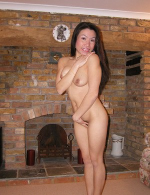 There is a lot of hair between the legs of amateur Asian Mai