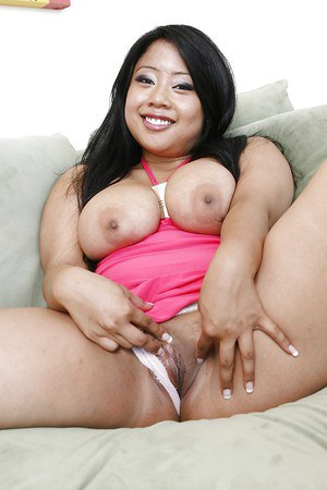 Asian brunette babe Kya Tropic welcomes everyone to enjoy her pussy