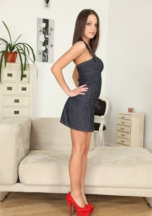 Enthusiastic European babe Foxy Di is clothed like real whore