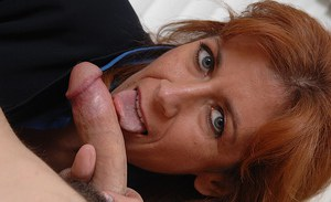Generous mature sexy mom Mikela Kennedy gets her bushes licked