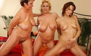 Excitation is what making milf lesbians Estella, Lilo and Vanda wet