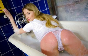Exotic amateur teen Angel Piaff allows herself to be nasty girl