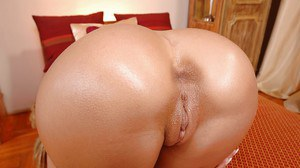 Luxurious babe with perfect ass Blue Angel touches her wetness