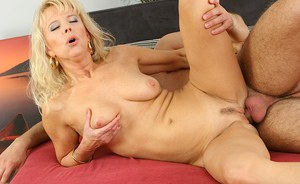 Gentle big-tittied mature vixen Marylin has cool pussy ramming