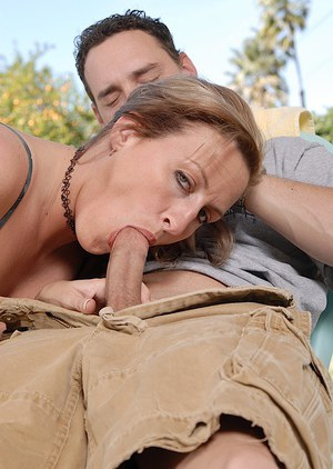 Lucky mature mom Joey gets herself a nice pretty dick to fuck with