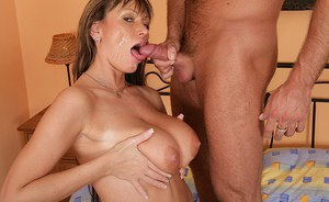 Sweet and daring mature actress Pandora is compelled by that prick