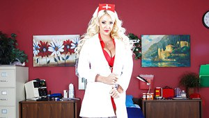 Lovesome milf babe Courtney Taylor loves to wear nurse uniform