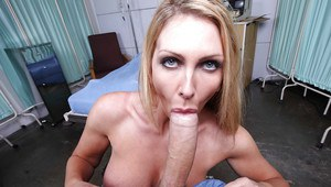 Big-tittied wife Leigh Darby loves bringing awesome blowjobs