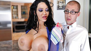 Ambitious milf with splendid big tits Amy Anderssen has very big boobs