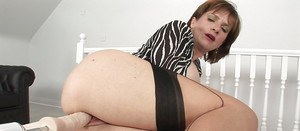 Providential honey Lady Sonia is masturbating with the help of dildo