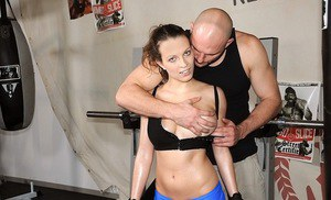 Wonderful big-tittied sporty babe Lily Love flirts with ferocious Jmac