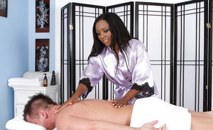 Ravishing brunette milf Persia Black massages tasty beaver-cleaver