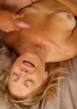 Extremely sexy mature mom named Katie fucks like a sinister whore