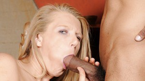 Amusing European milf Porscha Ride blowjobs hard black lecher