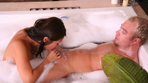 Unforgettable massage in the bath by big titted Asian girl Beti Hana
