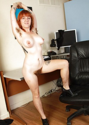 Ugly redhead milf has beautiful big tits and awful hairy body