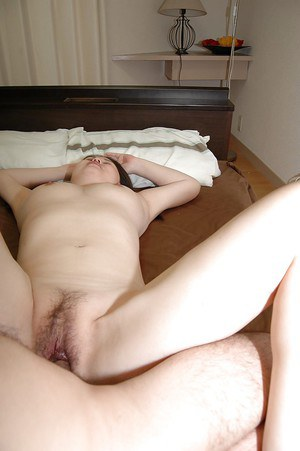 Asian milf with hairy pussy Mieko Ishimura banged and creampied