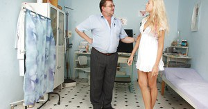 Stunning blonde beauty Angel Wicky is fucked hard by an oldman