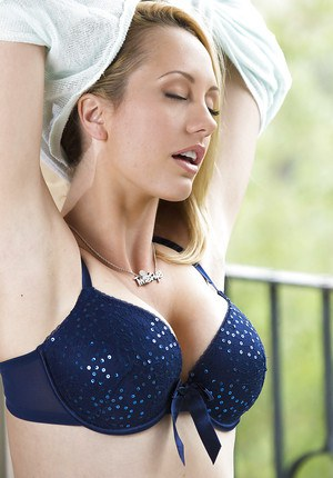 Astounding blonde babe with big tits and alluring pussy Brett Rossi