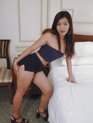 Adorable Asian babe Em loves showing her precious form and masturbating