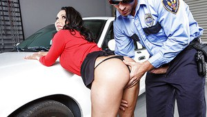Hot milf with big tits and hot ass Dayton Rains fucked by policeman