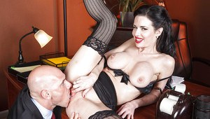 Big titted milf Veronica Avluv gets tortured and fucked in the office