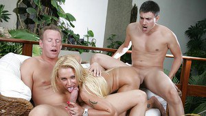 Busty Latina milf Pamela Butt gets two dicks to find her satisfaction