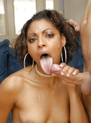 Ebony milf named Baby Doll gets assfucked and facialized by white man