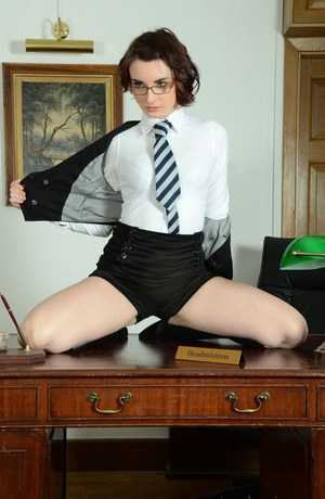 Fair-skinned schoolgirl in glasses Victoria Porter look awesome
