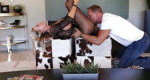 Busty blonde housewife Sandra Otterson is a perfect lady for juicy sex
